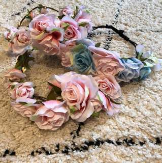 F21 Blush Pink Floral Headcrown