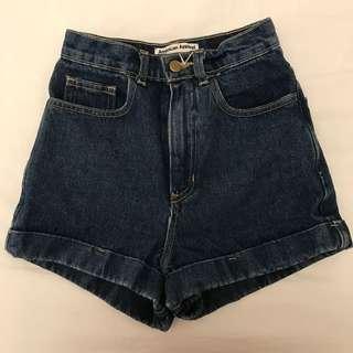 Blue High Waisted Shorts