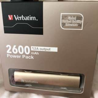Verbatim 2600 mAh Power Pack 充電器