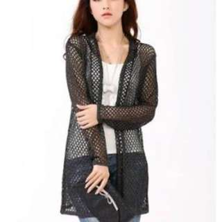 JONES NEW YORK SEE THRU CARDIGAN