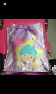 Little Twin Stars Official Sanrio Character Satin Bag Limited Edition