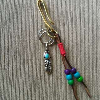 Feather Pendant Keychain