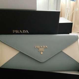 1:1 Prada 2 tone Clutch Bag with Chain