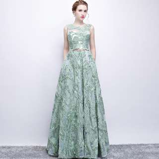 2018 new spring arrival green evening gown