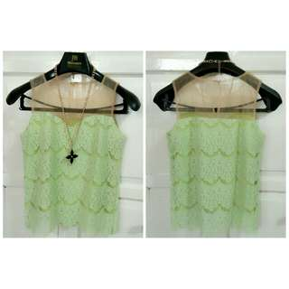 Blouse Green With Tile