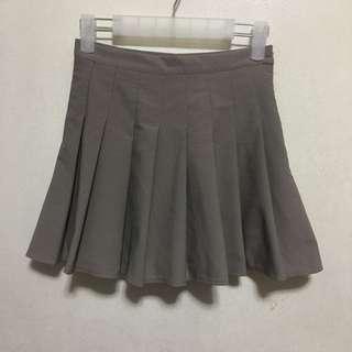 [Preloved] High Waist Gray Tennis Pleated Skirt