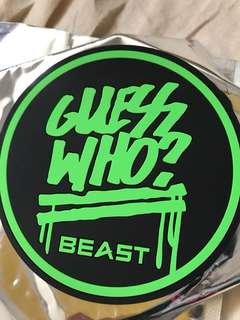 Beast Guess Who 杯墊