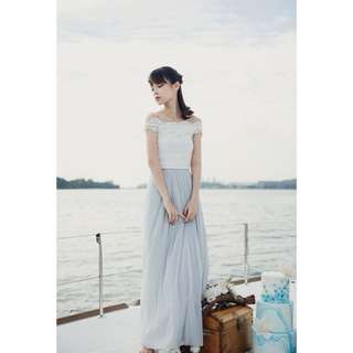 Thread Theory Orinoco Flow Maxi Tulle Skirt (Light Grey)