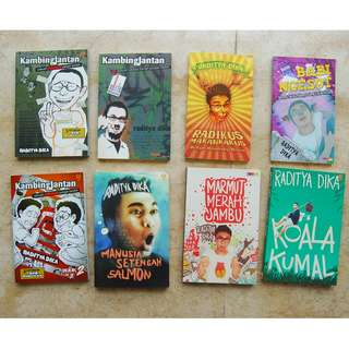Buku Novel Nonfiksi Komedi Raditya Dika The Series