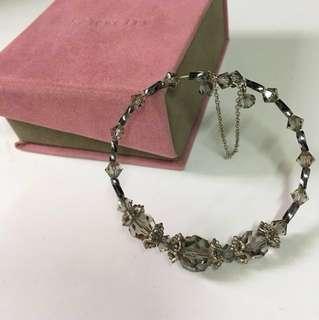 灰色透明crystal bracelet