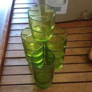 tupperware 7low 1 high drinking glass