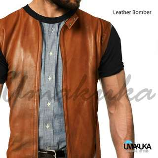 Kaos 3d fullprint (Leather bomber) size L