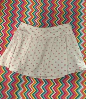 Charity Sale! H&M girl's skirts white with pink polka dots