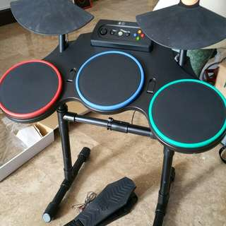 Electric Drum Set and Guiter with X-Box 360