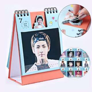 🌷BTS Mini Photo Album Calender