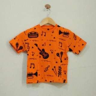 Kaos Anak Orange Gitar 2-3T