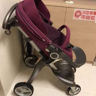 Stokke explory stroller with accessories