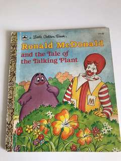 Ronald McDonald And The Tale of The Talking Plant - Little Golden Book