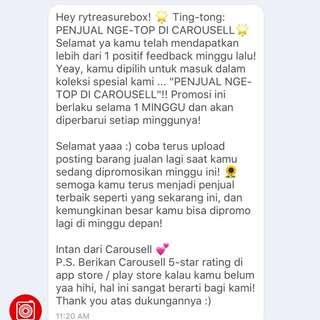 Thankyou Carousell 💙