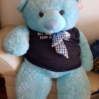 Blue life size bear