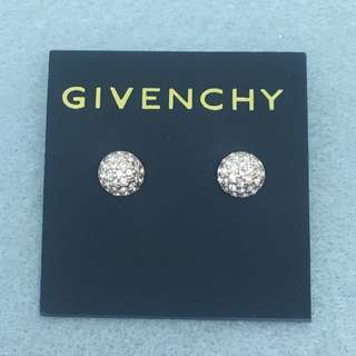 Givenchy Sample Earrings 玫瑰金色半圓球閃石耳環