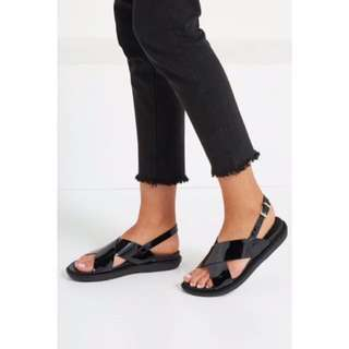 Rubi sliders black slip on Nadine Sports Xover Sandal
