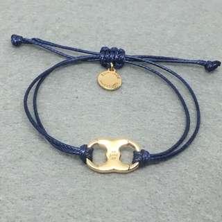 Tory Burch Sample Earrings 藍色配金色情侶手繩手帶手鏈
