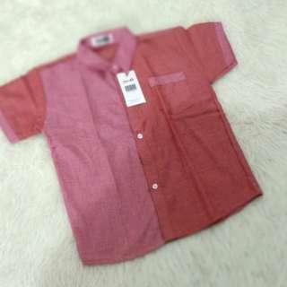 Kemeja merah muslim new 5T