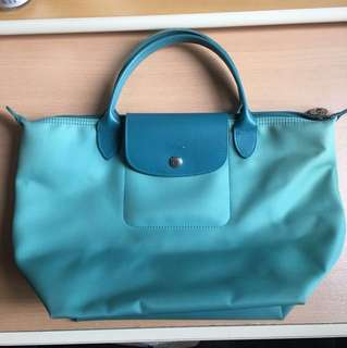 Longchamp M size Green Bag 手挽袋 手袋