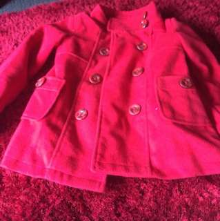 Red girl jacket
