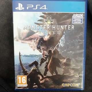 PS4 R2 Monster Hunter World Europe Region