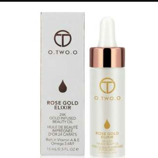 O. Two. O rose gold oil