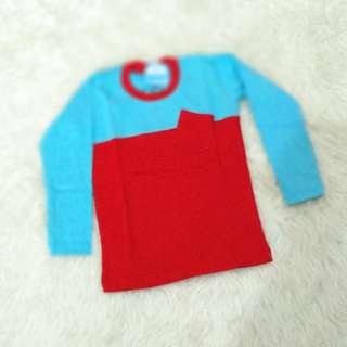 Kaos Panjang Merah 2-3 T
