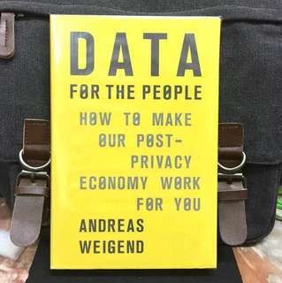 # Highly Recommended《Bran-New + 2017 Hardcover Edition + Amazon Chief Data Scientist Shows How Big Data Makes Everyone Richer》Andreas Weigend - DATA FOR THE PEOPLE : How to Make Our Post-privacy Economy Work for You