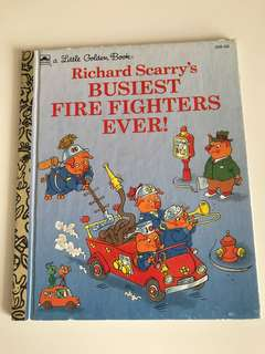 Richard Scarry's - Busiest Fire Fighters Ever - Little Golden Book