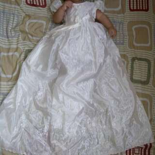 Preloved long baptismal gown