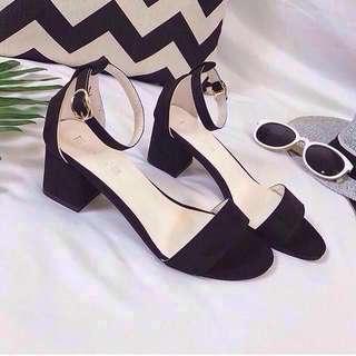 Ready stock ankle strap ol Heels open toe #cny88