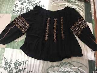 Baju bohemian bordir .