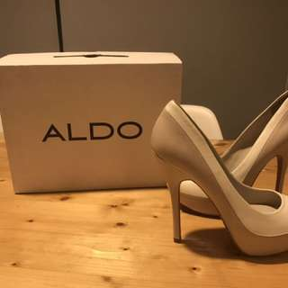 ALDO white high heels (used only once)