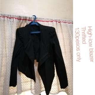 Black high-low blazer