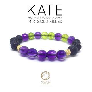 KATE Stretch Gemstone Diffuser Bracelet