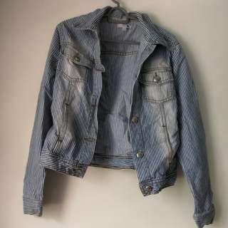 Stripes denim jacket