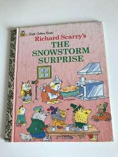 Richard Scarry's - The Snowstorm Surprise - Little Golden Book