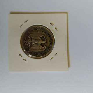 Swiss 1924 Silver Shooting Medal Aarau Aargau Switzerland