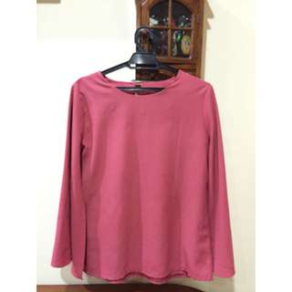🔥FREE POST Batwing pink top