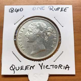 1840 queen Victoria British india coin