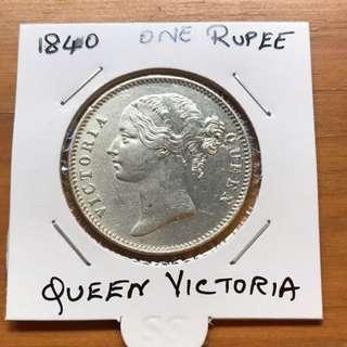1840 queen Victoria British india coin
