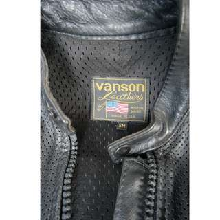 Genuine Vanson Leathers perforated leather riding jacket size Small