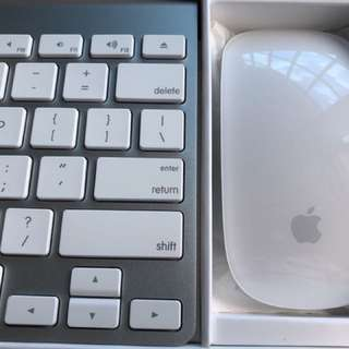 Original Apple Wireless Magic Keyboard and Magic Mouse