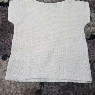 Kaos Putih Rajut